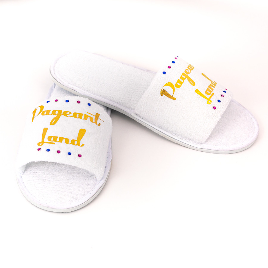 Pageant Land White Slippers