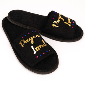 Pageant Land Black Slippers