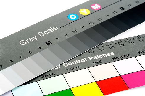 Color selector control to print on a whi