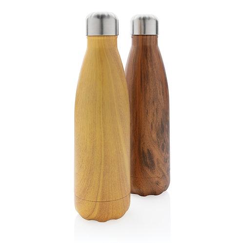 Vacuüm Roestvrijstalen Fles met Houtdesign