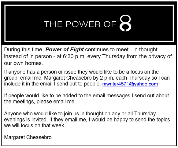Power of 8 announcement.png