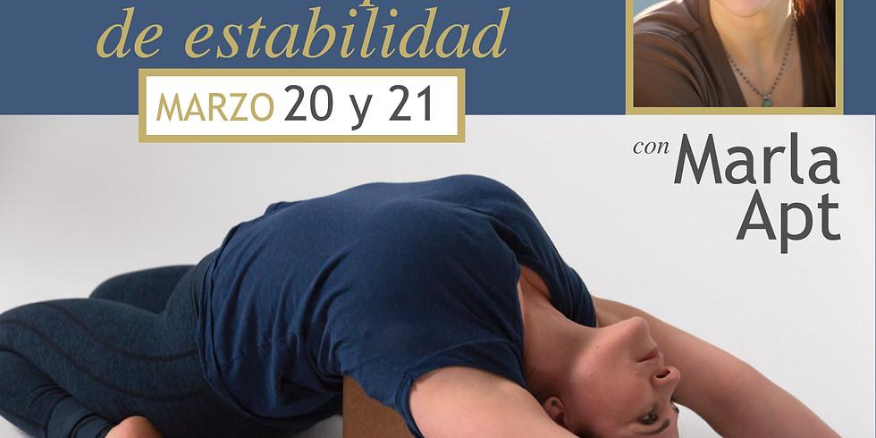 """Taller de Yoga Iyengar con Marla Apt """"La pelvis como el piso de estabilidad"""""""