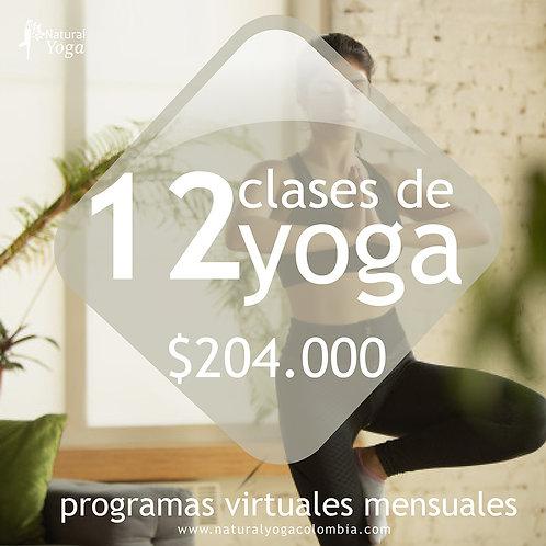 Programa virtual 12 clases de Yoga