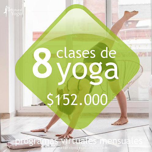 Programa mensual 8 clases de Yoga Virtual