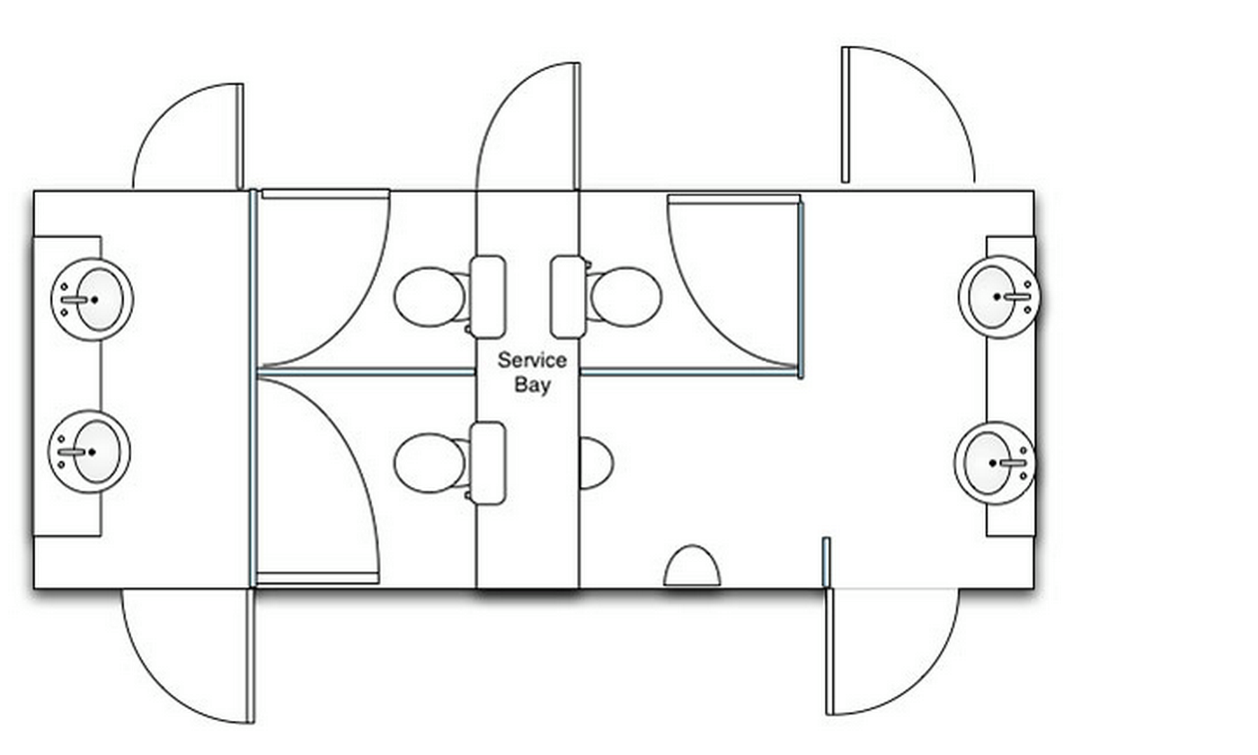 Interior layout for 2+1 Unit