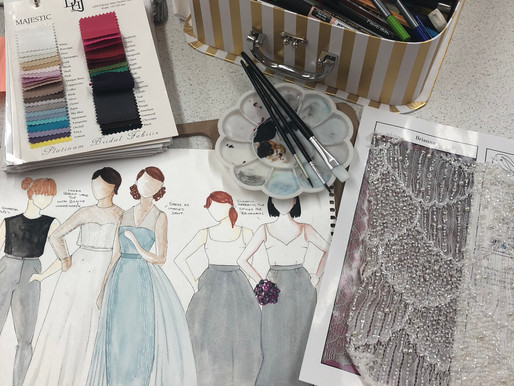 A step by step guide to designing your own bespoke wedding dress