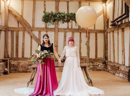 Modern Rustic Barn Wedding With Bespoke Wedding Separates
