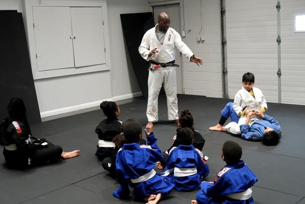 Professor Jason teaching eager students