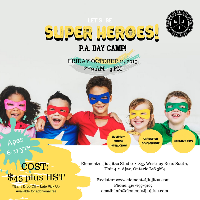 Let's Be Superheroes! P.A. Day Camp