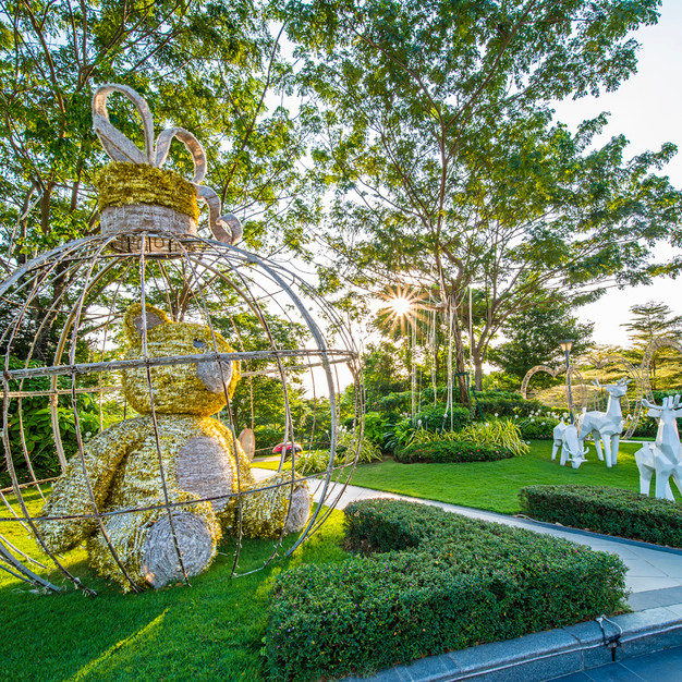Park with 3D Garden