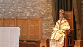 Preken biskop Erik fra kapellet på Stiklestad