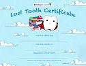 The Lost Tooth Certificate LIGHT SAMPLE.
