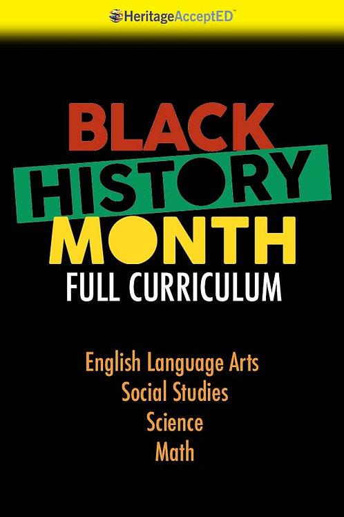 Black History Month Full Curriculum