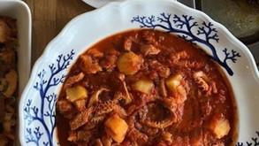 牛ハチノスのトマト煮込み、ズッパイングレーゼ等