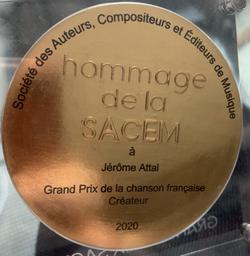 Grand Prix Sacem de la Chanson Française 2020