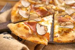 Fresh Black Truffle, Mozzarella and Prosciutto Pizza