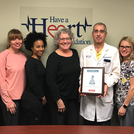 Its Official Have A Heart Is a BBB Certified Charity