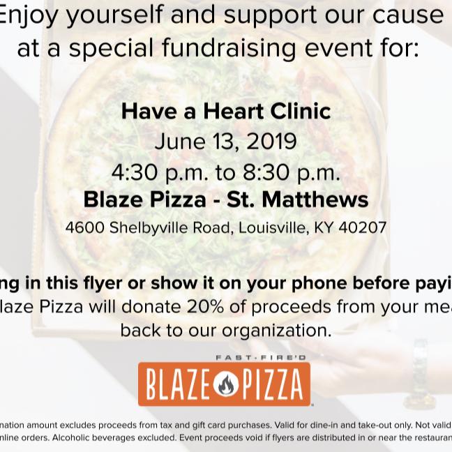 BLAZE PIZZA NIGHT!