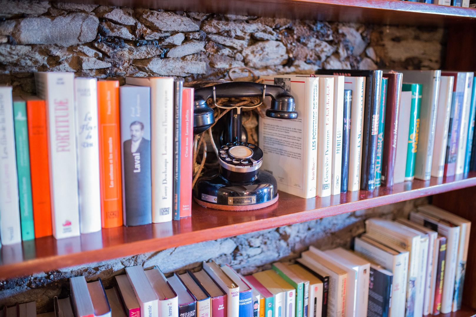 La bibliothèque de l'étage