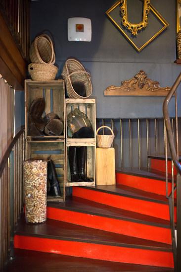 L'escalier de l'Auberge de l'Erdre