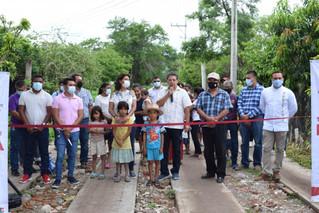 Inauguran Rodadas que dan un mejor acceso a colonia La Candelaria