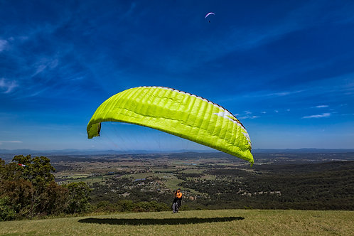 Paraglider Tamborine Mountain Greeting Card