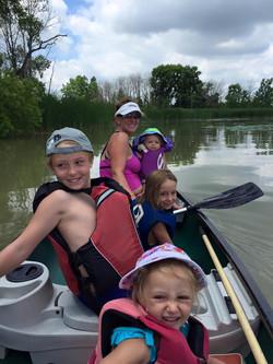 Canoeing Lake Erie