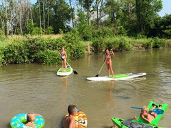 Paddleboarding the Portage River