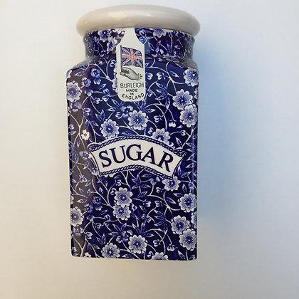 Burleigh Blue Calico Square Sugar Jar