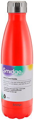 Smidge 500ml Insulated Bottle- Coral
