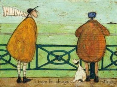 Canvas Art - Sam Toft 'I Hope I'm Always with You'
