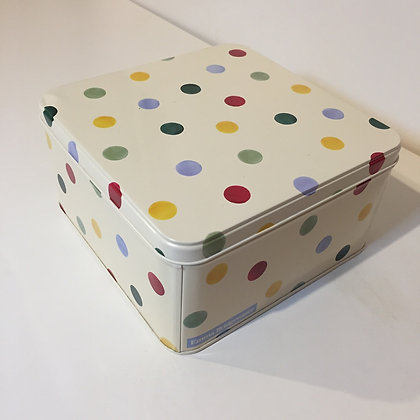Elite Tins Emma Bridgewater Polka Dot Small Square Cake Tin
