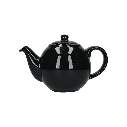 London Pottery 4 Cup Globe Teapot - Gloss Black