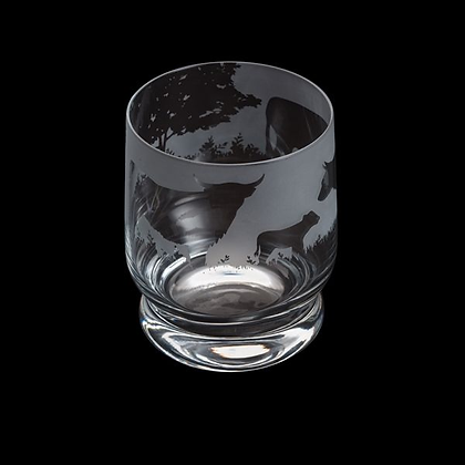 Dartington Aspect Highland Cattle Glass Tumbler