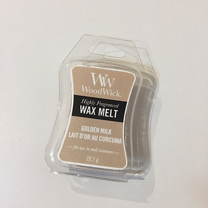 Woodwick Mini Wax Melt - Golden Milk