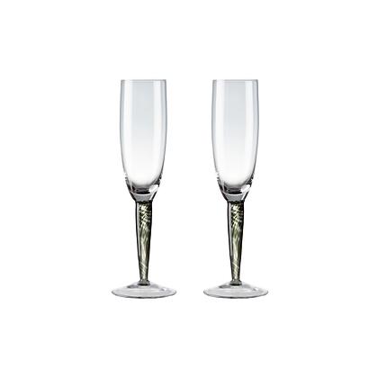 Denby Jet Champagne Glasses Set of 2