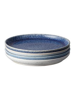 Denby Studio Blue Medium Plates set x4