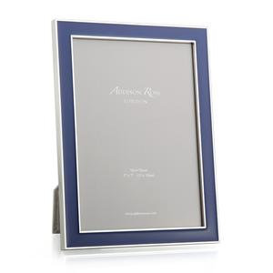 Addison Ross 5x7 Photo Frame - Navy and Silver
