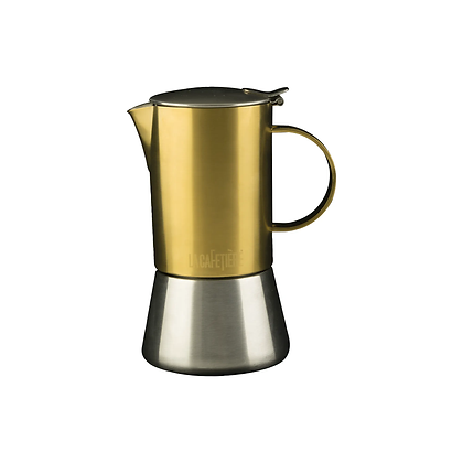La Cafetiere Edited 4 Cup Stainless Steel Stovetop - Brushed Gold