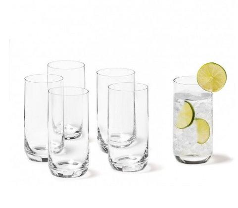 Leonardo Glass Set of Six Daily High Ball Glasses