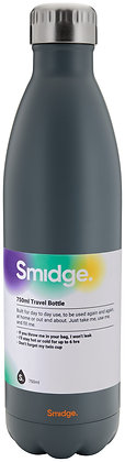 Smidge 750ml Insulated Bottle-Charcoal
