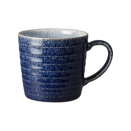 Denby Studio Blue Cobalt/Pebble Ridged  Mug