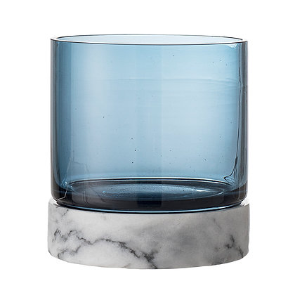 Marble and Glass Votive Holder