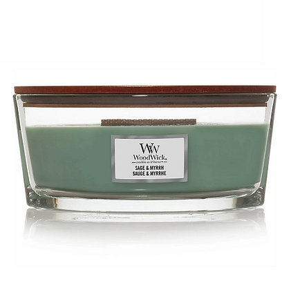 Woodwick Ellipse Candle - Sage & Myrrh