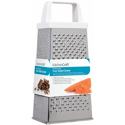 KitchenCraft Stainless Steel 20cm 4 Side Box Grater