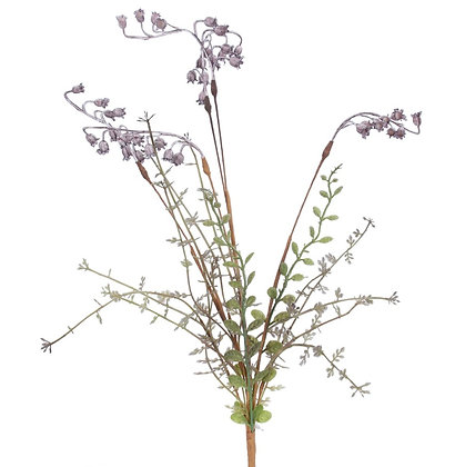 Gisela Graham Lilac Wild Bell Flower Spray