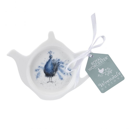 Royal Worcester Wrendale Teabag Tidy - Peacock