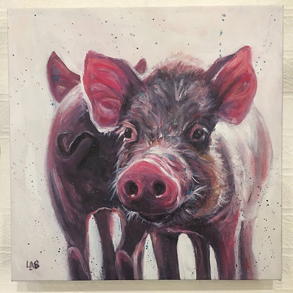 Canvas Art - Piglet Heaven