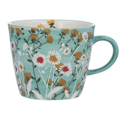 Gisela Graham Blue Wild Daisy Mug