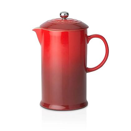Le Creuset Stoneware Coffee Pot and Press - Cerise